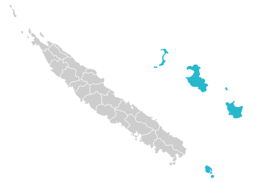 Map of Islands Province & Isle of Pines