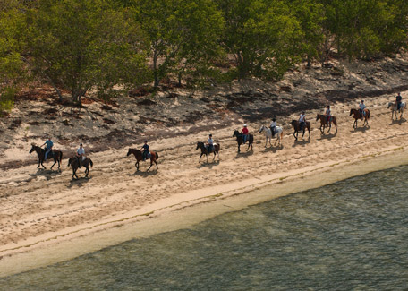 Horse riding in the beach in New Caledonia