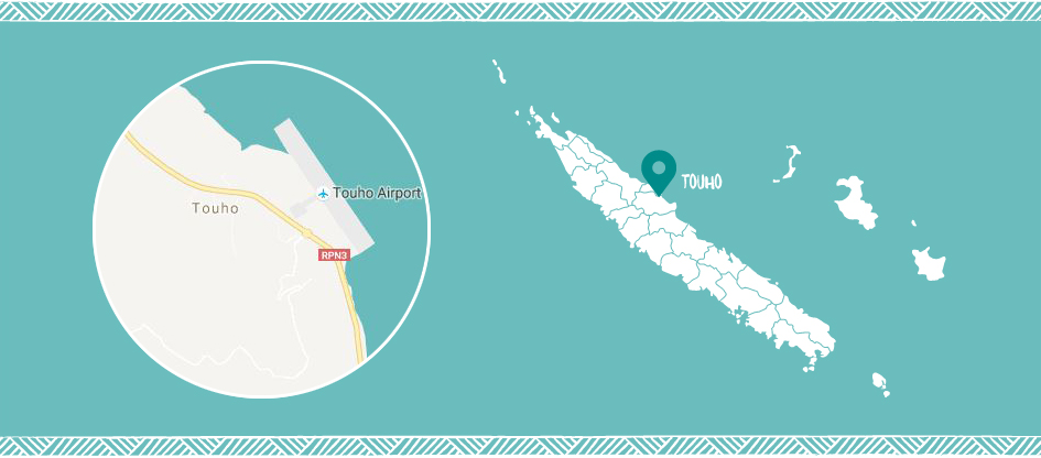 Touho in the East coast of New Caledonia