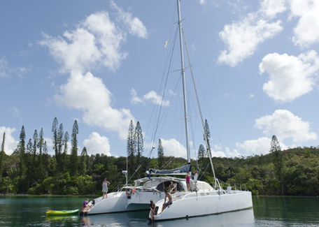 Trip in catamaran in the West coast in New Caledonia