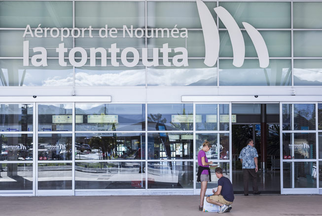 Tontouta airport in New Caledonia