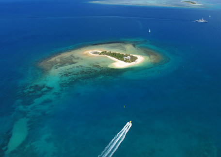 Ile aux Canards and Maitre islet in taxiboat, Noumea, New Caledonia