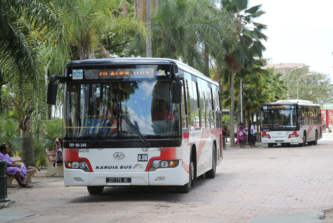 Karuia bus in the city center in Noumea