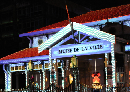 light show at the museum of the city of Nouméa