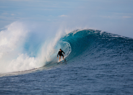 Surf in Bourail in New Caledonia
