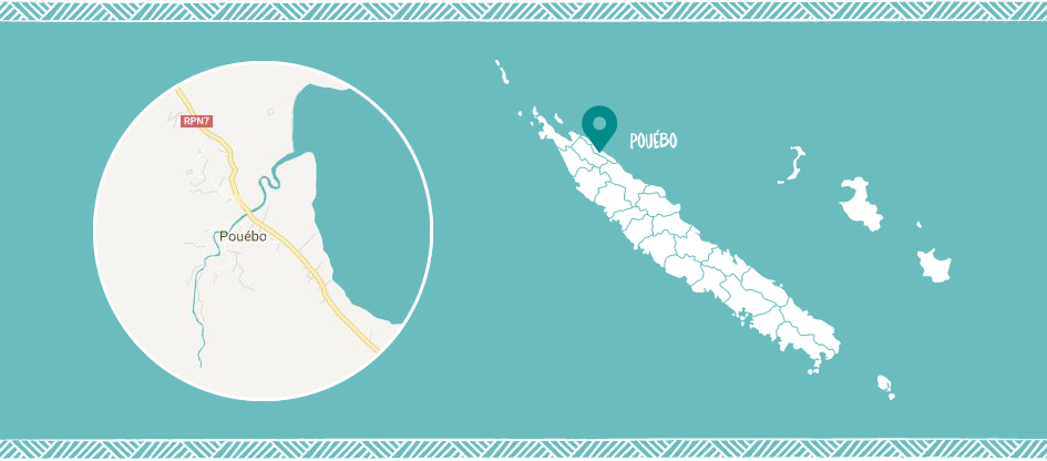Pouébo in the East coast of New Caledonia