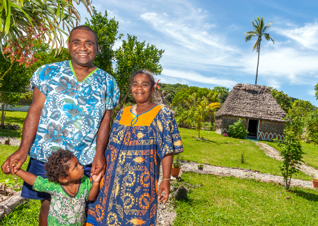 staying with a tribe in Maré New Caledonia