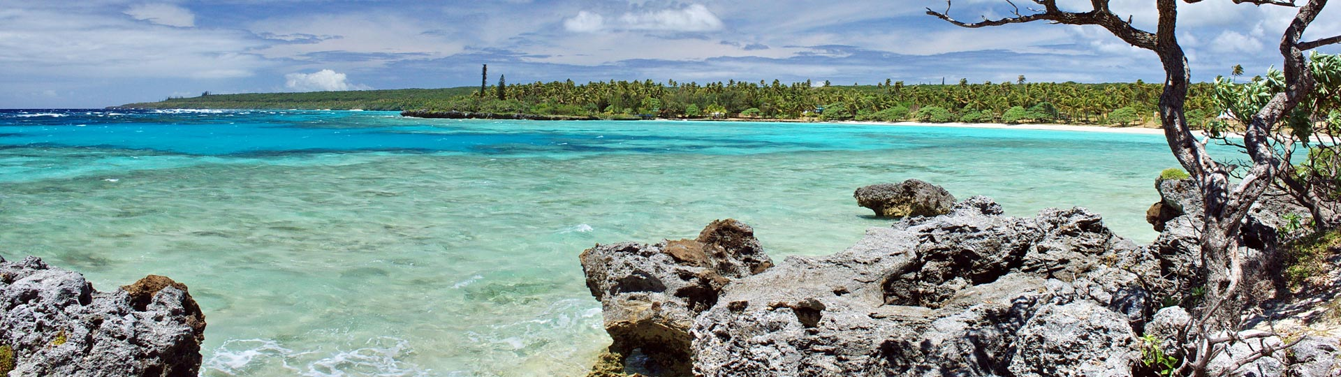 Lagoon in Lifou Iles Loyauté in New Caledonia