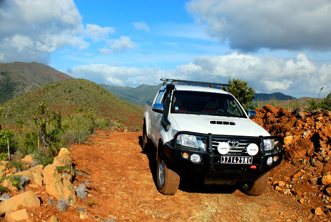 Rent a 4WD in bush