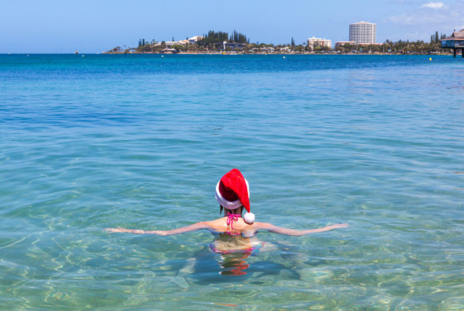 Swimming in December in New Caledonia