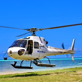 Helicopter in New Caledionia
