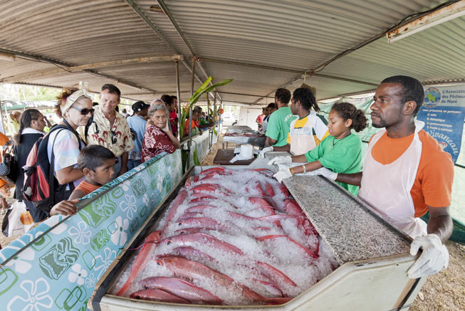 Red snapper in New Caledonia