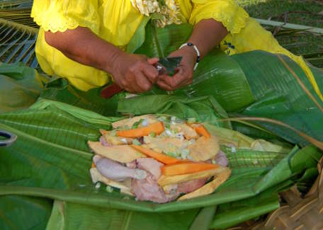 Try the bougna, traditional Melanesian dish
