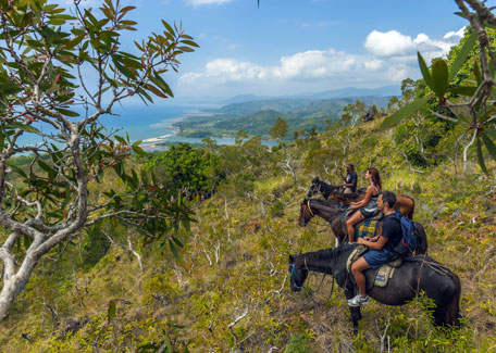 Horse riding in East coast of New Caledonia