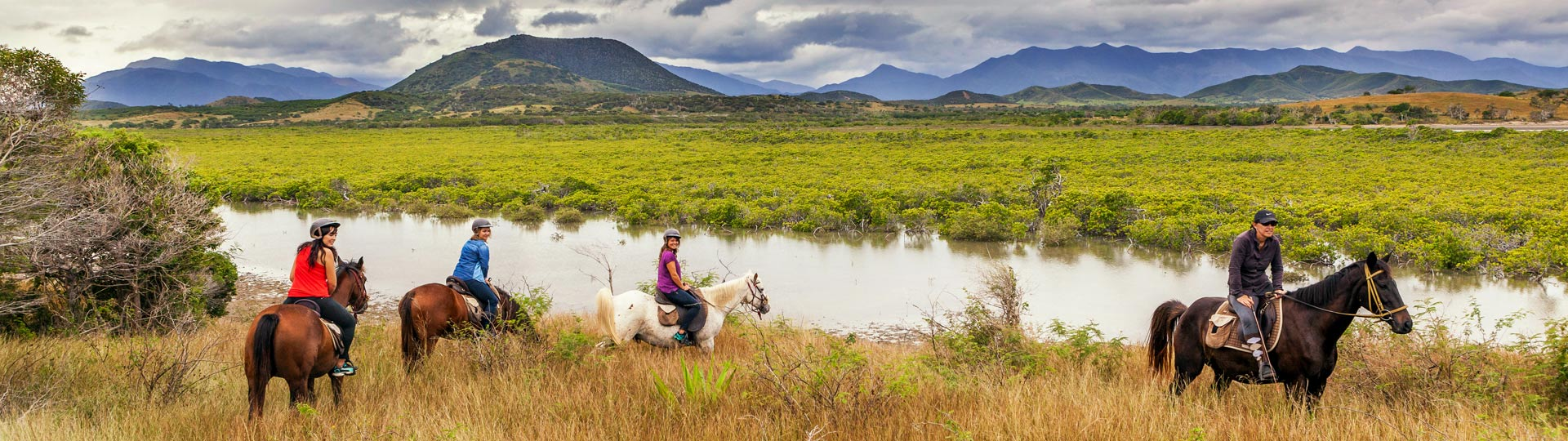 Horse riding in New Caledonia