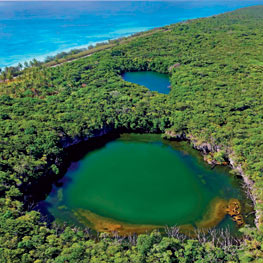 Hanawa Blue Hole in Ouvéa the Loyalty Islands