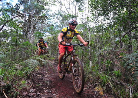 Mountain bike in New Caledonia