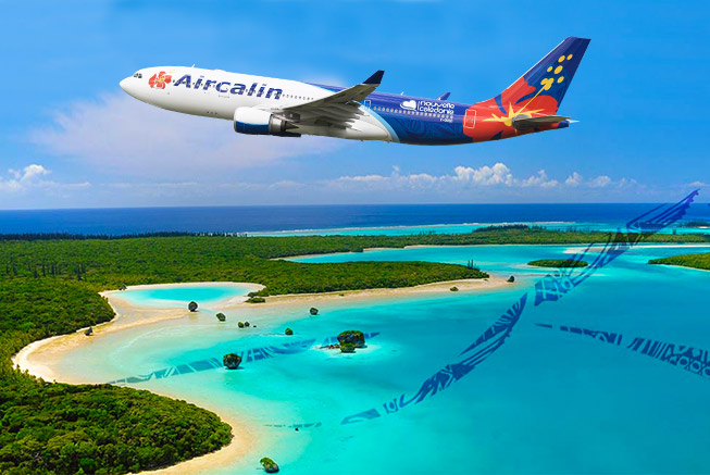 Aircalin plane in New Caledonia