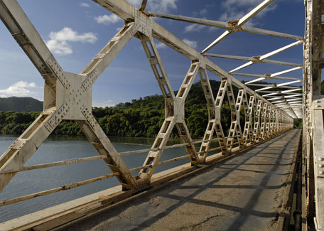 The Eiffel bridge in Ponerihouen, New Caledonia