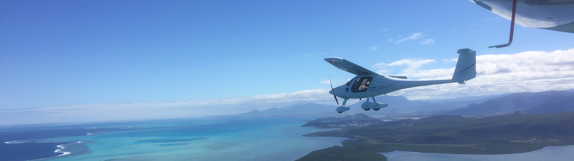 Ultralight flights in New Caledonia