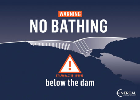 Warning Yate dam