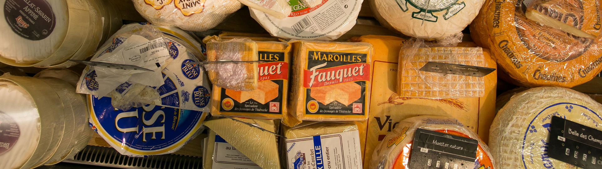 Delicatessen products french cheese