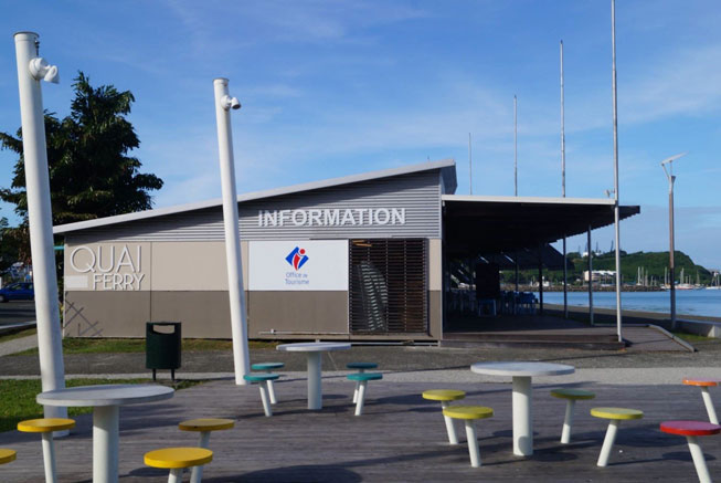 Tourism office in the Place des Cocotiers in Noumea
