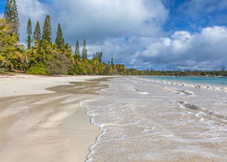 Kuto beach in the Isle of Pines