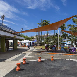 Port Moselle Market in Noumea