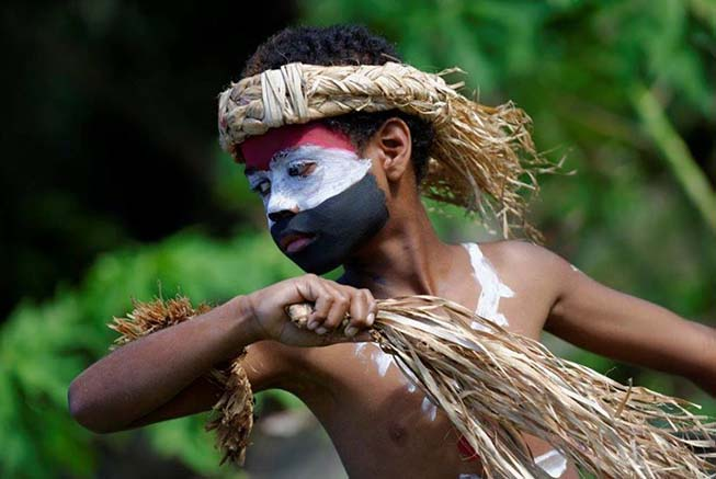 Local culture in Loyalty Island, New Caledonia