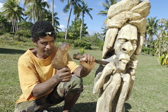 Wood carving in the Loyalty Islands