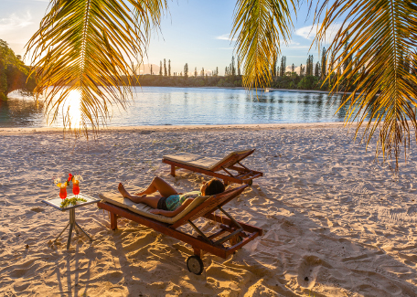 Relax in the Isle of Pines, New Caledonia
