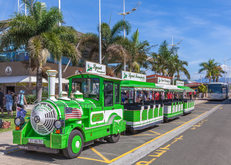 "he ""little tourist train"" in Noumea"