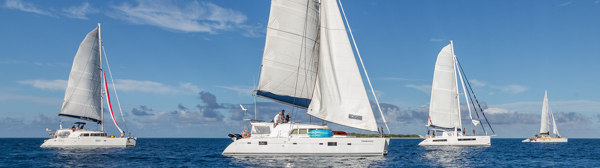 Trip in catamaran in New Caledonia
