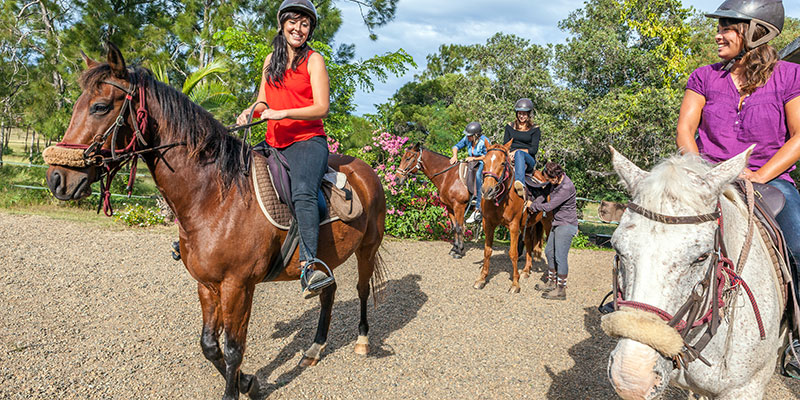 Horseback riding in New Caledonia