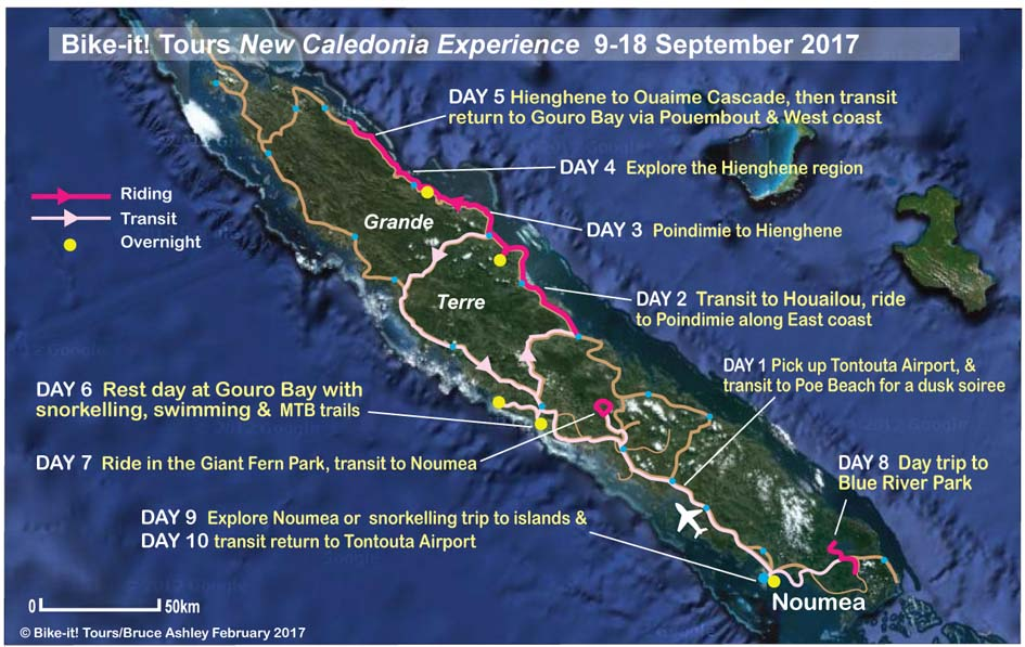 New Caledonia cycling tours