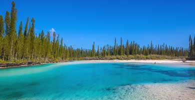 Isle of Pines in New Caledonia