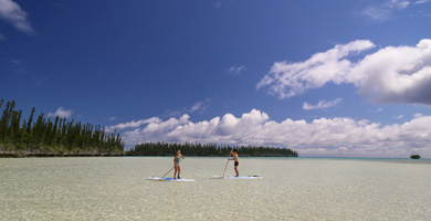 Stand up paddle, baie d'Oro, Île des Pins